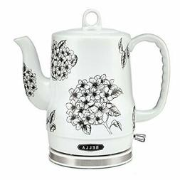 1.2 Liter Electric Ceramic Tea Kettle with Detachable Base &