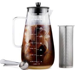 Cusinium 1.5L Glass Cold Brew Coffee / Tea Maker w/ Filter &