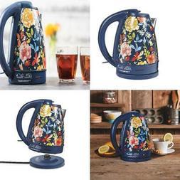 1.7Liter Water Boiler Fiona Floral/Blue Electric Kettle Kitc