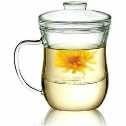 10 Oz Glass Filtering Tea Maker With Infuser Teapot Cup CJ-3
