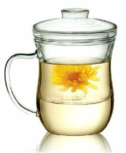 Kendal 10 oz Glass Filtering Tea Maker with infuser Teapot T