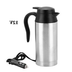 12V 750ml Car Coffee Tea Maker Kettle Pot Vehicle Water Heat