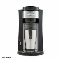 BELLA 14392 Dual Brew Single Serve Coffee Maker Silver/Black