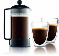 Bodum 1548-01US Brazil French Press Coffee and Tea Maker, 34