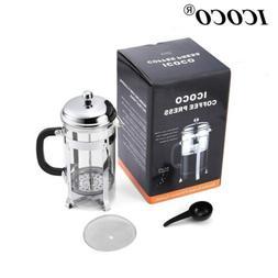 ICOCO 1L French Press 32 Oz. Coffee & Tea Maker W/ Stainless