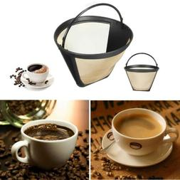 1X Reusable Washable Coffee Filter Permanent Cone Tea Filter