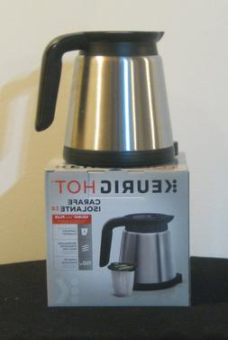 Keurig - 2.0 Coffee Carafe – Stainless Steel/Black - New