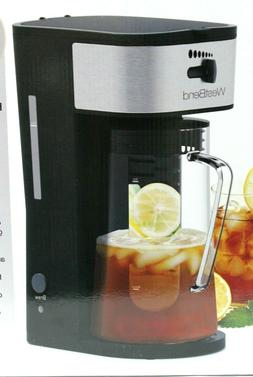 New 2.75 Qt West Bend Iced Tea Maker with Infuser and Glass