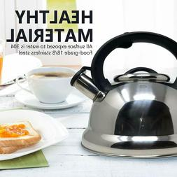 2.95 Quart Stainless Steel Whistling Tea Kettle Tea Maker, D