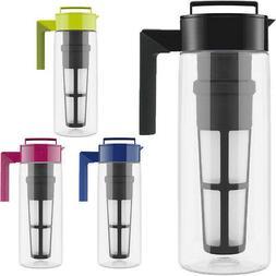 Takeya 2-Quart Tritan Plastic Flash Chill Iced Tea Maker wit