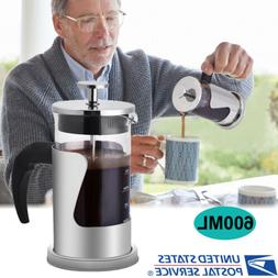 20 OZ/600 ML Stainless Steel French Press Coffee Maker Tea M