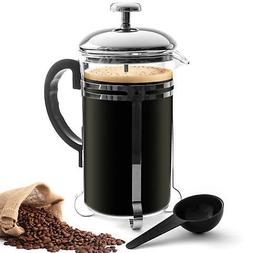 24oz French Press Coffee & Tea Maker 6 Cup Heat Resistant Gl