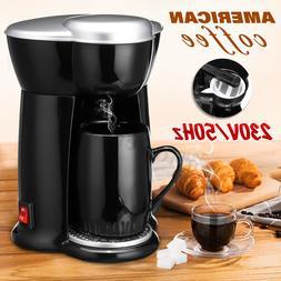 300W 140ML Single Cup Drip Coffee Makers Electric Auto Espre