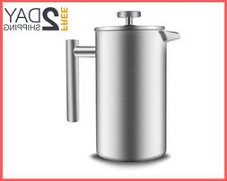 34oz Double Wall Stainless Steel French Press Coffee Coffee