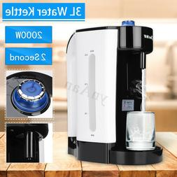 3L Electric Hot Fast Water Boiling Kettle Heating Coffee Tea