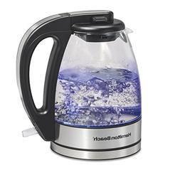 Hamilton Beach Compact Glass Kettle, 1 Liter