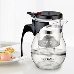600ml Glass <font><b>Teapot</b></font> <font><b>Tea</b></fon