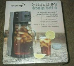 Capresso 624 Black/Stainless Iced Tea Maker Infuser -- NEW