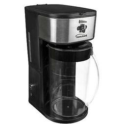 700W Black Plastic Iced Tea & Coffee Maker w 64 oz. Pitcher