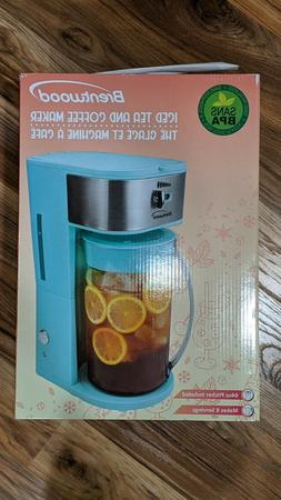 Brentwood 8-Cup Blue Iced Tea and Coffee Maker with 64 Ounce