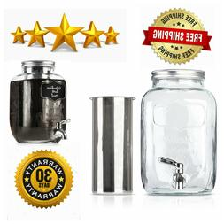 BTäT- Cold Brew Coffee Maker, 1 Gallon Mason Jars Drink Dis