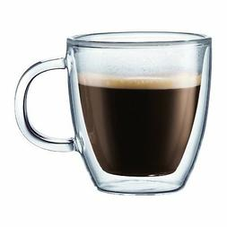 Bodum BISTRO Coffee Mug, Double-Wall Insulated Glass Espress