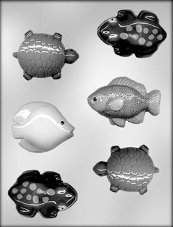 CK Products Fish, Frogs, and Turtles Chocolate Mold