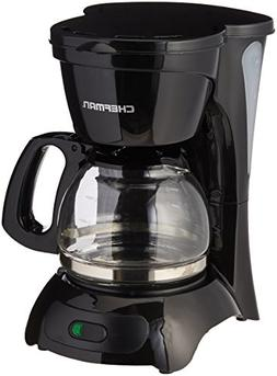 Chefman RJ14-4-M 4 Cup Switch Coffee Maker, Black