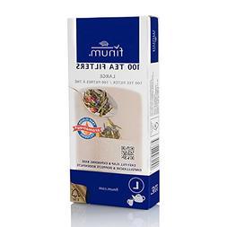 Finum Disposable Paper Tea Filter Bags for Loose Tea, Brown,