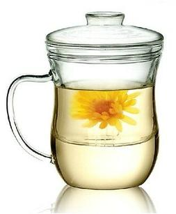 Kendal 10 oz Glass Filtering Tea Maker with infuser Teapot T