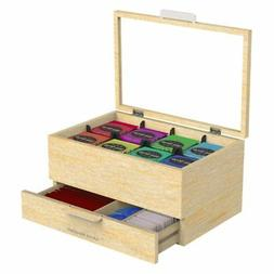 Mind Reader Royce Wooden Tea Bag and Condiment Organizer, Br