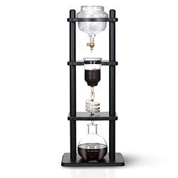 Yama Glass YAMCDM8SBK Coffee Tower with Iced Slow Drip Techn