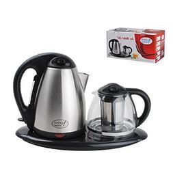 Aramco AI16155 1.7 L/1.5 L Electric Tea Maker Set, Chrome