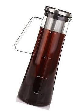 Airtight Cold Brew Coffee Maker - 1 Quart Sealing Brewed Ice