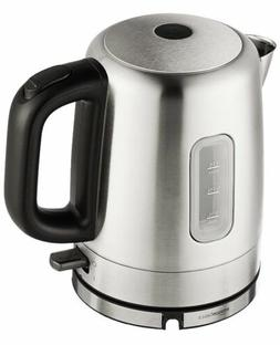 Amazon Basics Stainless Steel Electric Kettle 1-Liter Silver