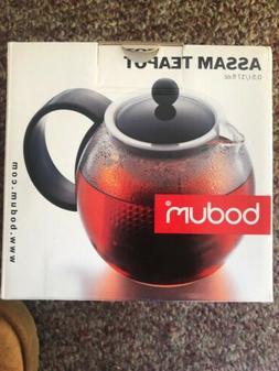 Bodum Assam Teapot with Stainless Steel Filter, 17 fl. Ounce