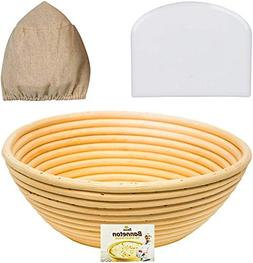 9 Inch Banneton Proofing Basket Set - for Professional and H