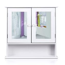 HOMFA Bathroom Wall Cabinet Multipurpose Kitchen Medicine St