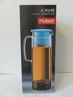 Bodum Biasca  40 oz Cold Brew Ice Tea Maker Glass Jug  New i
