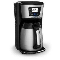 Black & Decker CM2035B 12-Cup Thermal Coffeemaker, Black/Sil