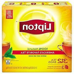 Lipton Black Tea Bags, America's Favorite Tea 312 ct New