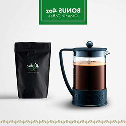 Bodum Brazil French Press Coffee Maker, 51 Ounce, 1.5 Liter,