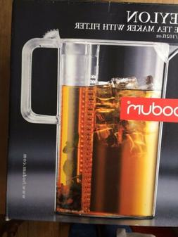 Bodum Ceylon Ice Tea Jug with Filter, 101 oz., Clear