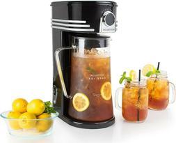 Nostalgia CI3BK Iced Coffee Maker and Tea Brewing System Gla