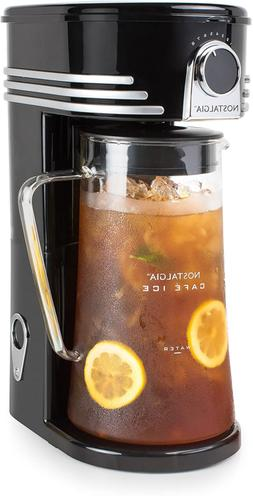 Nostalgia Iced Coffee Maker and Tea Brewing System, Glass Pi
