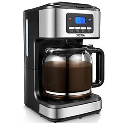 Aicok Coffee Maker, 12 Cups Programmable Drip Coffee Maker w