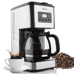 Coffee Maker Barsetto 10 Cup Coffee Machine Stainless Progra
