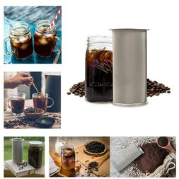 Cold Brew Coffee Maker Iced Tea Infuser Stainless Steel Filt