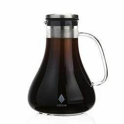 Cold Brew Iced Coffee & Tea Maker, 1.5L Glass Pitcher Carafe