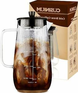 Cold Brew Iced Coffee Maker - 1 Quart Iced Brewed Tea Maker
